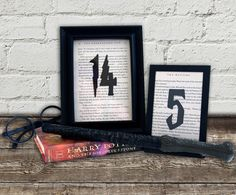 Harry Potter Wedding Wedding Table Numbers Choose by ReddySetArt