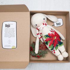 Vera The Rabbit  inspired by Lalylala / Crochet Doll / Handmade Amigurumi / Amigurumi animal / Christmas Bunny