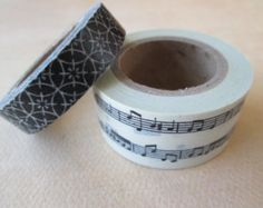 Washi Tape - Double Roll - Music Notes and Mixed Print