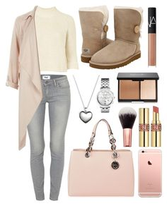 """""""Pack and Go: London"""" by chloeandkyanna ❤ liked on Polyvore featuring Topshop, Paige Denim, MICHAEL Michael Kors, Pandora, UGG Australia, Yves Saint Laurent, NARS Cosmetics, Tommy Hilfiger, women's clothing and women"""