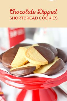 These Chocolate Dipped Shortbread Cookies are the perfect, sweet holiday treat. Try them today!
