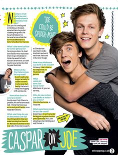 """I think he fancies me"" Caspar you idiot xD lol"