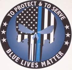 To Protect An Server Blue Lives Matter Skull American Flag RV Camper Car Truck Window Graphic Decal Mural Graphics decals Sticker Yeti Cup by SuperbDecalsLLC on Etsy