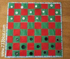 Duct Tape Checker Board | AllFreeKidsCrafts.com
