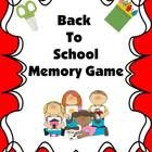 Enjoy this FREE Back To School Memory game! Download, Copy, Laminate, and have fun! Thank you for visiting my store!...
