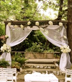 rustic arch | Rustically Elegant Wedding: We Do(e): Flowers With A Magical Touch