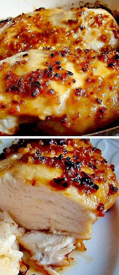 Baked Garlic Brown Sugar Chicken - Click for Recipe
