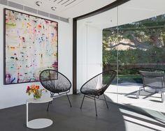Contemporary Interior   Glass Wall   Acapulco Chair   Mid-Century Modern   Furniture Design   Home Decor