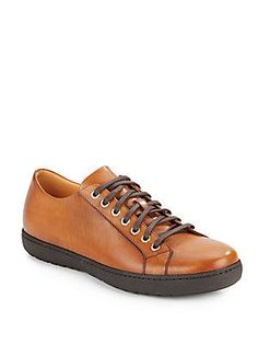 Magnanni for Saks Fifth Avenue Leather Sneakers - Cognac - Size Foot Pads, Saks Fifth Avenue, Leather Sneakers, Hiking Boots, Shoes, Products, Fashion, Moda, Zapatos
