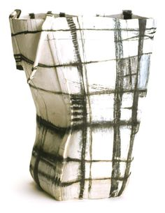 """'Agency Tower' from the """"Indigenous Baskets"""" series by LA-based artist Brenda Holzke. High fired stoneware, 15 x 12 in. source: the artist's site. via patternprints journal Pottery Sculpture, Sculpture Clay, Ceramic Sculptures, Ceramic Pottery, Pottery Art, Ceramic Boxes, Keramik Vase, Paperclay, Contemporary Ceramics"""