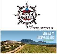 "Durbanville Hills is the official wine sponsor of Kyknet's ""Leef Jou Reis"""