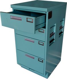 This military medical cabinet was an incredible find! When we saw these cabinets we just had to have them. They are very high quality. Perfect for a garage, workshop, or as modern décor. Four slide…
