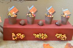 Scarecrow Fall Theme Baby Shower. Notes of Advice Table. Scarecrow Healthy Munchies #shopcnf