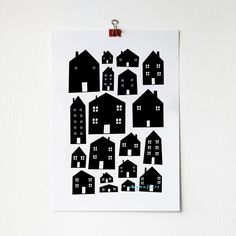 Scandi Houses Print