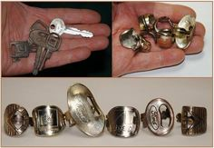 Old keys upcycled into rings