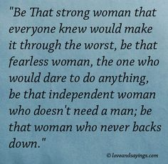 Be That Fearless Woman
