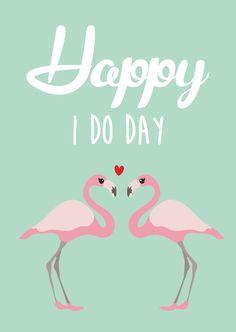 Postkaart happy I do day Postkaart happy I do day. Deze kaart is geschikt voor iedereen die gaat trouwen. [ssba]...