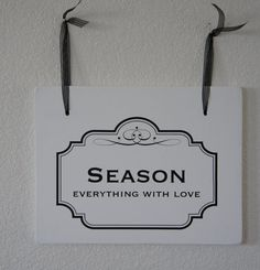 Double Sided Hanging Wood Sign 12x9 Season / by Frameyourstory