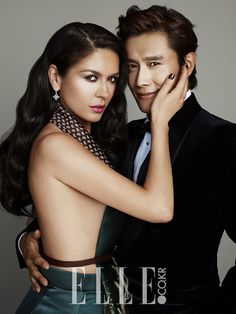 More of Lee Byung Hun & Catherine Zeta-Jones In Elle Korea's August 2013 Issue