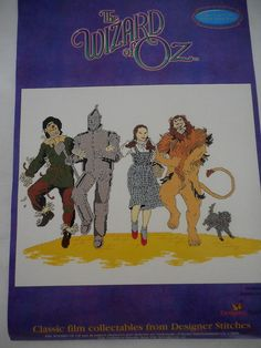 Designer Stitches Classic Film Collectables THE Wizard OF OZ Cross Stitch KIT | eBay