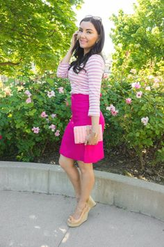Kate Spade New York pink spring summer outfit