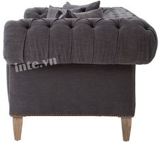 Kiểu ghế sofa vải nỉ cổ điển -1