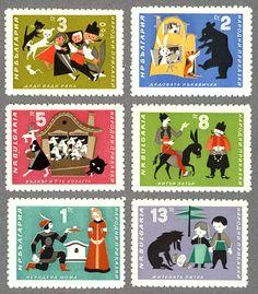 ブルガリア切手 おとぎ話 1964年発行 / 海外絵本・古書絵本の通販、フィネサ・ブックス