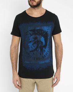 Tshirt Col Rond Print T-DIEGO-DC-EB Bleu Marine DIESEL