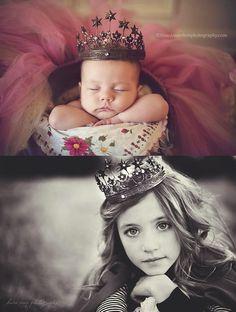 Елена Счастливая - Children & Family Photo Ideas фото в каждый день рождения в одной и той же короне