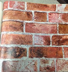 Rustic brick wallpaper. Textured for a more authentic look. This design comes from our Modern Rustic collection. Pattern # HE1044