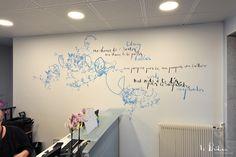 Décoration poétique pour les bureaux de Berlitz Boulogne-Billancourt