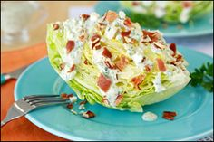 Hungry Girl recipe for guilt-free wedge salad. Pin and make today!