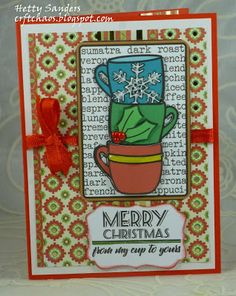 Handmade card by Hetty Sanders using the My Cup to Yours digital set from Verve. #vervestamps