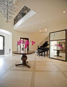 Sojo Design elegant entryway piano