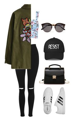 """""""SUMMA"""" by luka1207 ❤ liked on Polyvore featuring Topshop, adidas and Illesteva"""