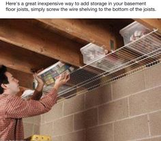 Basement storage. This is brilliant for my tiny space.