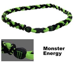 3 Rope Tornado Titanium Necklace Monster Energy. Greg would love this.