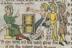 Thomasin <Circlaere>  Welscher Gast (G) Ostfranken (?), 1340 Cod. Memb. I 120 Gotha, Forschungsbibliothek  Folio 12v