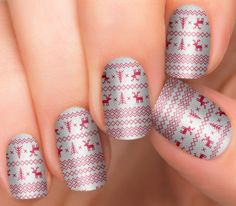 Holiday Nail Designs | Real Nail Polish Strips by Incoco | Winter Knits - Incoco