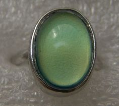 1970's mood ring. Changed colors (supposedly when your mood changed, but it probably had more to do with temperature). Wore mine every day...a little touch of magic for a 12 yr old girl :)