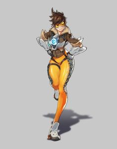 Overwatch Fanart - Tracer, SungGuk Lee on ArtStation at… Overwatch Tracer, Overwatch Genji, Game Character, Character Concept, Character Design, Female Characters, Anime Characters, Overwatch Wallpapers, Super Anime