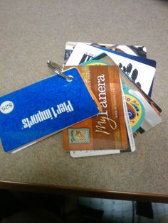 Done! keep gift cards/club cards together in one place..super simple and super helpful!