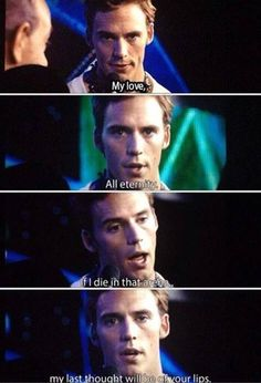Finnick speaking what could be his final words to Annie