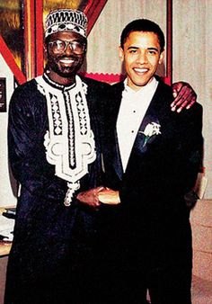 Barack Obama's Half-Brother, Malik Obama in his native dress. At least Malik doesn't pretend.