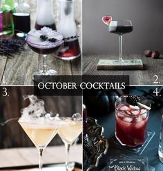Hauntingly Elegant October Cocktails for your Wedding | B&E Lucky in Love Blog
