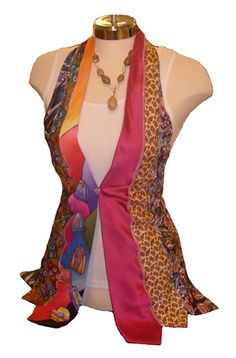 I could totally make this...Vest from old ties!