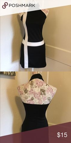 Mod black and white halter dress 🎀 Gently used 🎀 black and white 🎀Please ask for additional pictures, measurements, or ask questions before purchase 🎀No trades or other apps. 🎀Ships next business day, unless noted in my closet  🎀Reasonable offers accepted through the offer button 🎀Five star rating 🎀Bundle for discount Speechless Dresses Mini