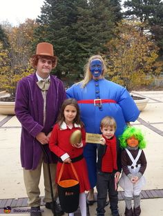 Willy Wonka and the Chocolate Factory Family - Halloween Costume Contest via @costume_works