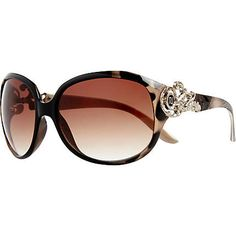 Brown tortoise shell square sunglasses $30.00