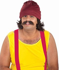 Forum Novelties Mens Cheech Kit with Cap Wig and Moustache Multi One Size * More info could be found at the image url.